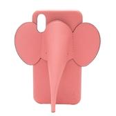 LOEWE 羅威 珊瑚粉小牛皮大象造型手機殼 附皮繩 Elephant Cover Iphone【BRAND OFF】