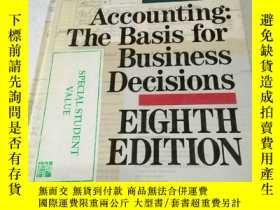 二手書博民逛書店Accounting:罕見The Basis For Busin