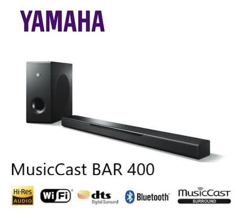 【結帳再折+24期0利率】YAMAHA 家庭劇院聲霸MusicCast BAR 400