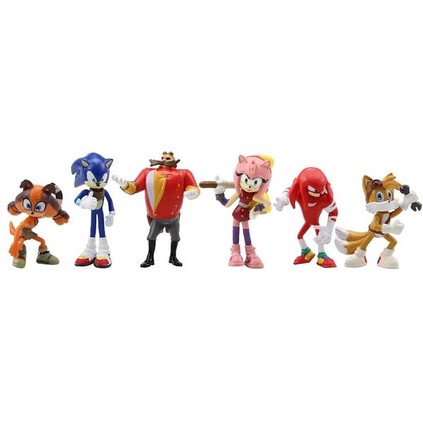 精品Sonic索尼克6款一套 音速小子超音鼠1代2代6件套 PSP游戲 公仔擺件