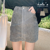 LULUS-Q後雙口袋細坑條短裙S-XL-3色  【05190075】