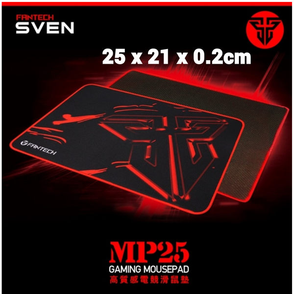 全新現貨 25x21x0.2cm 電競專用 FANTECH MP25 速度型精密防滑電競滑鼠墊 感應快速 超強防滑