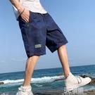 夏季薄五分短褲男青年潮流寬鬆休閒學生夏天七分外穿沙灘工裝馬褲 3C優購
