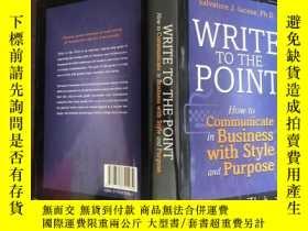 二手書博民逛書店Write罕見to the point: how to comm