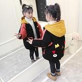 秋冬羽絨服潮流羽絨外套 韓版外套中大童上衣 加絨棉服洋氣兒童夾克外套 潮流女童外套女孩棉襖