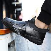 防水鞋大碼45室外46碼腳寬47特大碼48碼雨鞋男秋季皮面防滑男鞋子