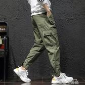 工裝褲男夏季寬鬆耐磨直筒多袋大碼戶外運動休閒春裝工作軍褲 依凡卡時尚