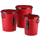 垃圾桶  創意歐式家用無蓋垃圾桶大號塑膠壓圈酒店客廳廚房衛生間辦公紙簍jy MKS交換禮物