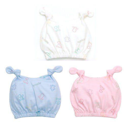 【奇買親子購物網】愛普力卡 Aprica 幸福印花嬰兒帽(藍/粉/白)