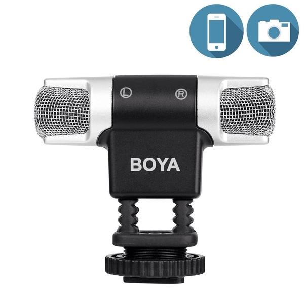 【EC數位】BOYA BY-MM3 迷你立體聲麥克風 手機/相機通用 立體聲效果 相容3.5mm插孔 無需電池