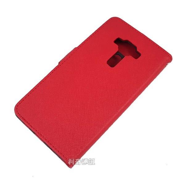 【Xmart】十字紋側掀皮套 ASUS ZenFone 3 Deluxe (ZS570KL) 5.7吋
