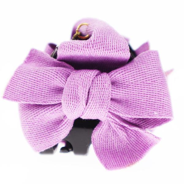 【粉紅堂 髮飾】素雅蝴蝶結抓夾*棗紅/單寧藍/樹葉綠/ 粉紅色/淺紫色 *