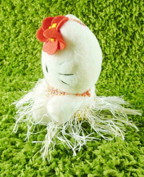 【震撼精品百貨】Hello Kitty 凱蒂貓~KITTY絨毛娃娃-夏威夷服飾-紅色