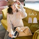 LULUS-C細條紋單口袋微透膚長袖襯衫...