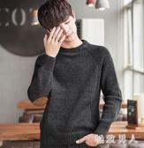 男士毛衣韓版圓領針織衫潮流男裝寬鬆 個性毛線衣加絨加厚冬季外套 LN1481 【極致男人】