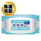 【立得清】酒精擦濕紙巾 清潔抗菌35抽3...