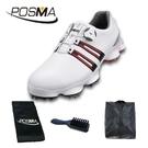 高爾夫男士球鞋 寬版鞋底 旋轉鞋帶 防水透氣 GSH102WBRED