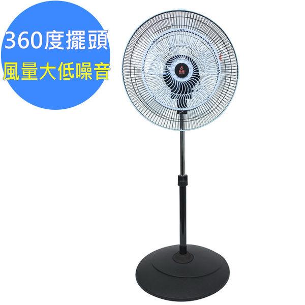 【勳風】360度立體擺頭集風網超廣角立扇(HF-B1638G)16吋