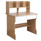 書桌 電腦桌【收納屋】木紋雙抽書架式學生...