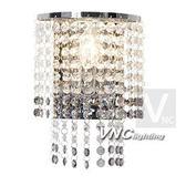 現代水晶壁燈簡約不鏽鋼