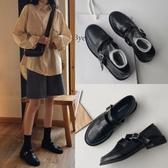 可愛日系軟妹原宿風圓頭瑪麗珍復古扣帶柔軟小皮鞋CHIC仙女樂福鞋  koko時裝店