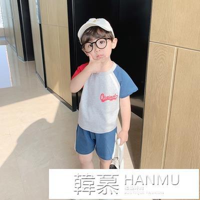 兒童短袖套裝純棉夏季寶寶運動服2021新款童裝潮小童衣服男童夏裝 夏季新品