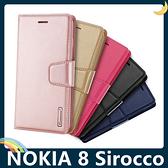 NOKIA 8 Sirocco Hanman保護套 皮革側翻皮套 簡易防水 帶掛繩 支架 插卡 磁扣 手機套 手機殼 諾基亞