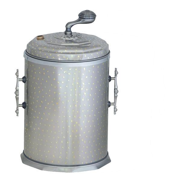 簡歐風格垃圾桶複古(白滿天星)