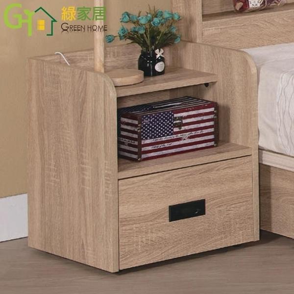 【綠家居】威士蘭 現代1.4尺單抽床頭櫃/收納櫃