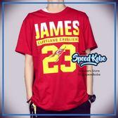 創信 NBA 短袖 短T 騎士 紅 James #23 號碼T 8730257-011 【Speedkobe】