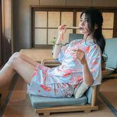 618好康鉅惠 夏季日式和服浴室睡衣套裝清新外出家居服