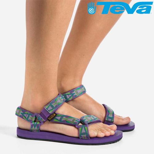 TEVA 《女款》經典復刻版水陸運動涼鞋Original Universal - 馬賽克紫