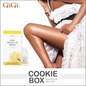 美國 GiGi 身體用 脫毛 貼片 套組 12片 雙面 順毛 脫毛 蜜蠟  腳毛 手毛 光滑 方便 *餅乾盒子*