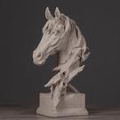 北歐創意樣板房裝飾擺件大將軍馬頭擺飾客廳玄關辦公室禮品擺設WY【快速出貨】