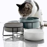 貓碗陶瓷高腳護頸單雙碗固定架防打翻寵物狗狗食盆傾斜保護頸椎 【快速出貨】