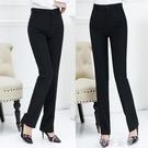 西裝褲 西裝褲女職業褲直筒寬鬆褲工作褲高...
