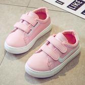 兒童小白鞋女運動鞋秋季新款跑步鞋板鞋寶寶童鞋女童小白鞋子
