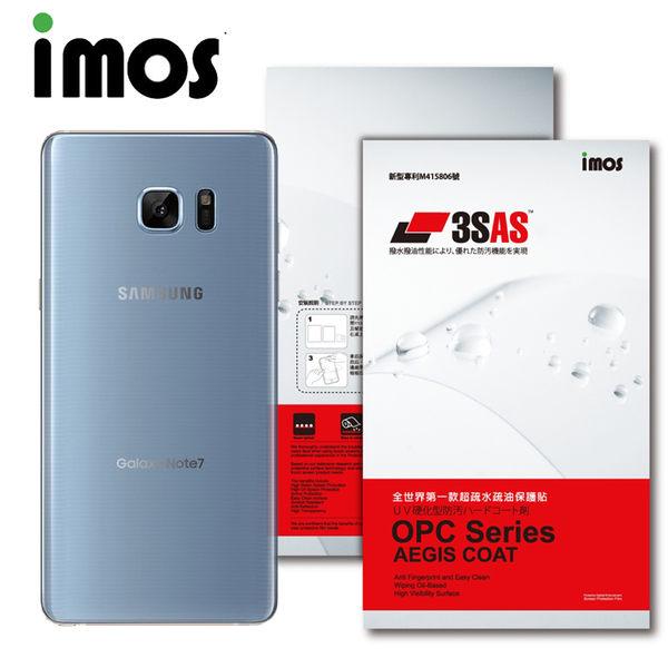 TWMSP★按讚送好禮★iMOS SAMSUNG Galaxy Note 7 3SAS 疏油疏水 背面保護貼