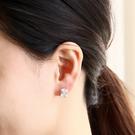 簡約閃耀方型水鑽耳環