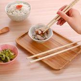 日式防滑長筷子家用餐具竹子筷子套裝創意情侶尖頭防霉竹筷10雙裝