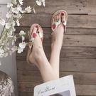 羅馬拖鞋網紅拖鞋女夏外穿人字拖鞋女復古草編沙灘度假仙女羅馬鞋 芊墨左岸