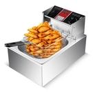 雙缸電炸爐炸串擺攤電炸機單缸大容量炸薯條...