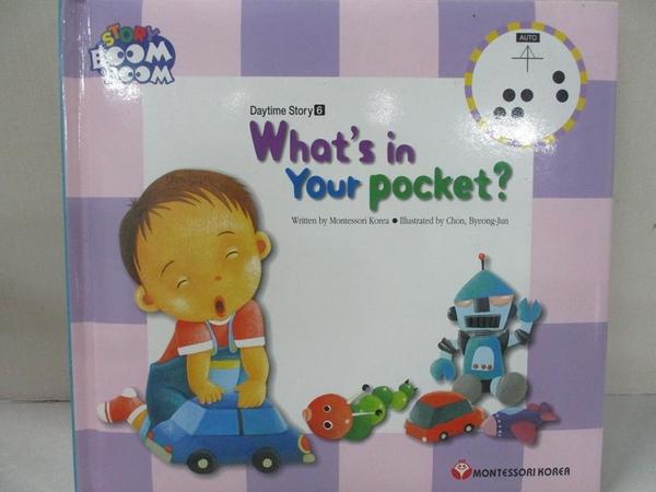 【書寶二手書T1/少年童書_DJP】Story Boom Boom Daytime Story-What s in Your Pocket?