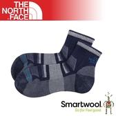 【The North Face 男女 運動羊毛跑步襪《海軍藍/灰》】3CNO/短襪/羊毛襪/防臭/運動襪/保暖襪