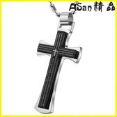 【伊人閣】十字架 十字架鈦鋼項鍊簡約吊墜個性基督耶穌教霸氣韓版時尚