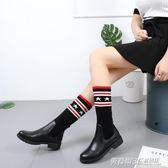 秋季新款尖頭細跟高跟鞋黑色禮儀鞋職業工作鞋粗跟韓版單鞋女  英賽爾