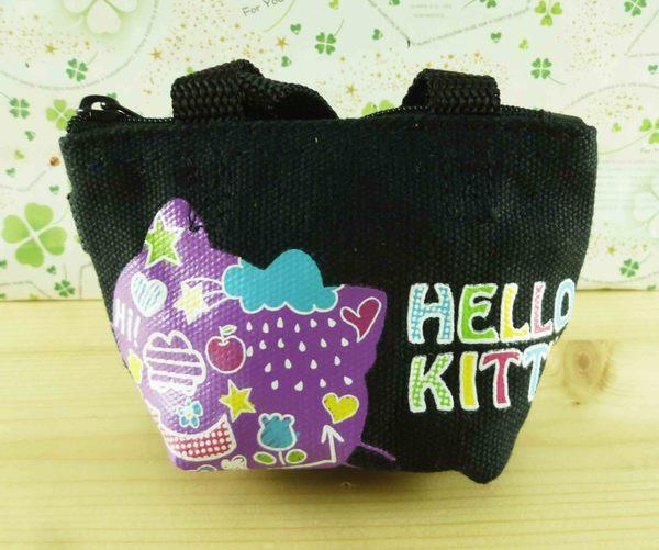 【震撼精品百貨】Hello Kitty 凱蒂貓-造型零錢包-紫黑