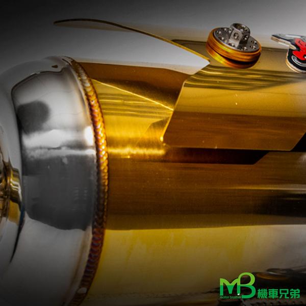 機車兄弟【 牛王合法排氣管 】(VJR125漸撗白鐵迴壓管)(CNC支架+風扇蓋)