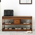換鞋凳 楠竹鞋架簡易家用家里人換鞋凳多層省空間經濟型實木宿舍鞋櫃 【快速出貨】