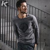 長袖T恤 男士春季新款T恤 男修身印花體恤 正韓潮男裝衣服(快速出貨)